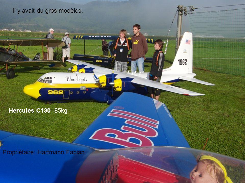 Il y avait de très gros rototo24 kg rotor de 3m46 de diamètre Lama de Buehlmann Dieter