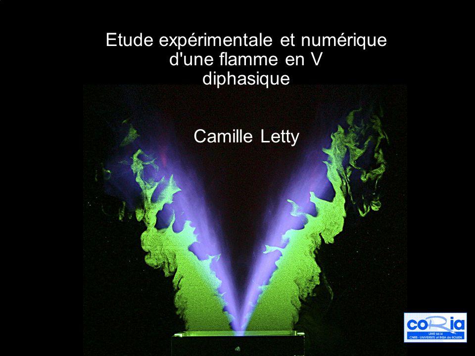 Etude expérimentale et numérique d une flamme en V diphasique Camille Letty