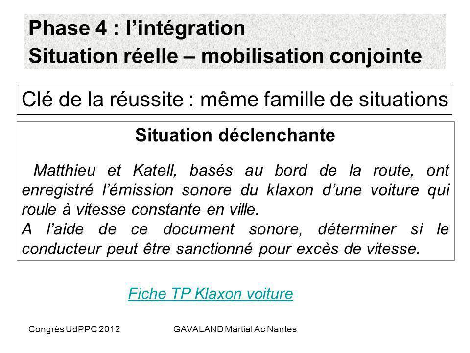 Congrès UdPPC 2012GAVALAND Martial Ac Nantes Types dactivités Niveau de généralité Activité de structuration Activité fonctionnelle Mobilisation ponct