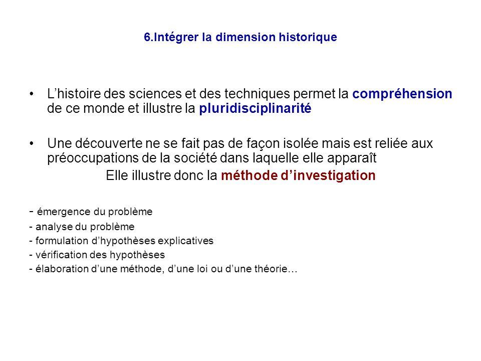 7.Comment introduire lhistoire des sciences et (ou) des techniques au collège .