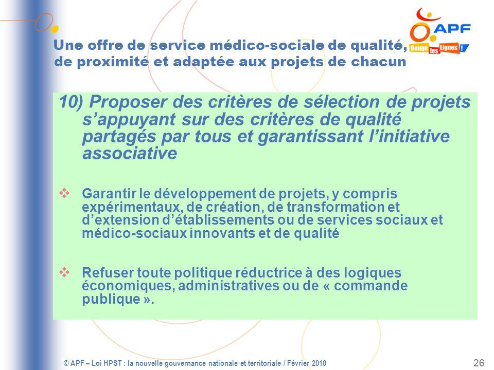 © APF – Loi HPST : la nouvelle gouvernance nationale et territoriale / Février 2010 27 PROBLEME DE CONVERGENCE .