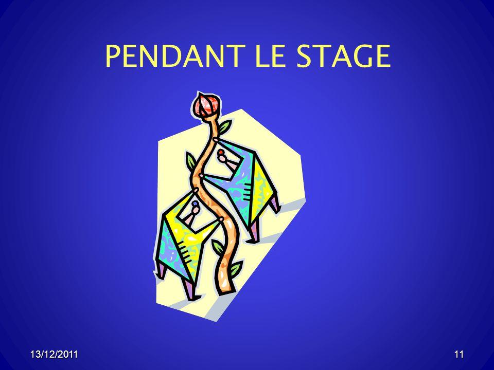 13/12/201111 PENDANT LE STAGE