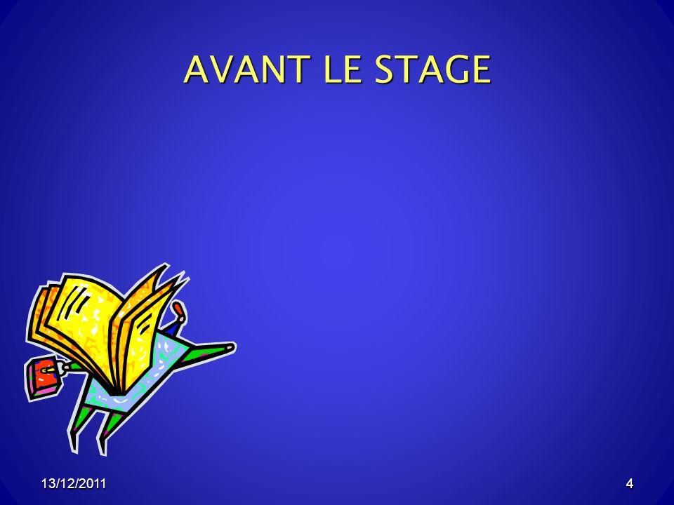 13/12/20114 AVANT LE STAGE 4