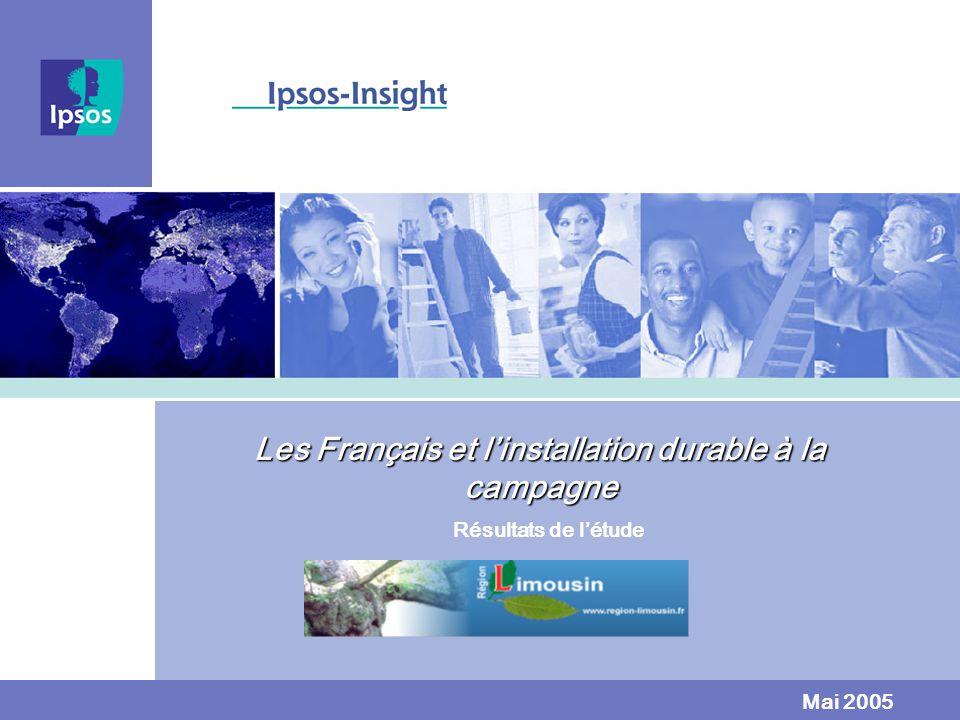 Les Français et linstallation durable à la campagne Résultats de létude Mai 2005