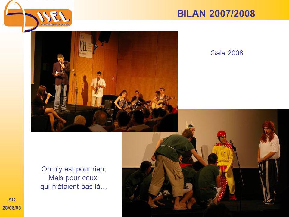 BILAN 2007/2008 AG 28/06/08 Gala 2008