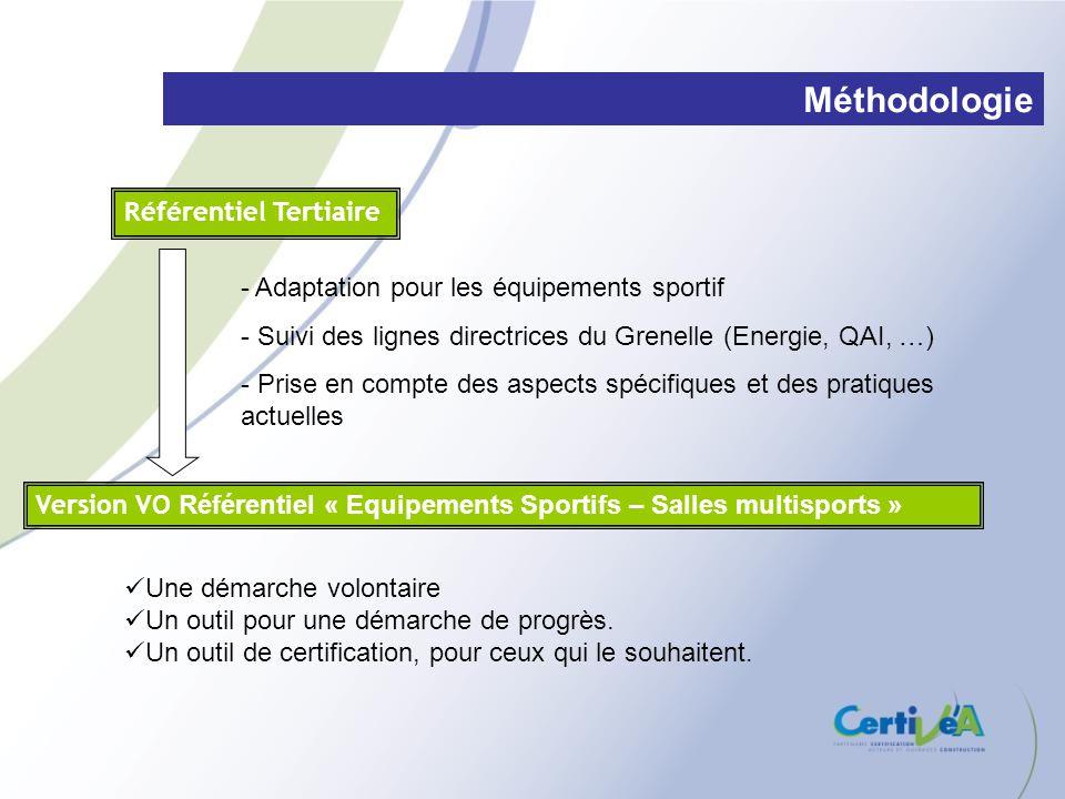 Version VO Référentiel « Equipements Sportifs – Salles multisports » Référentiel Tertiaire - Adaptation pour les équipements sportif - Suivi des ligne