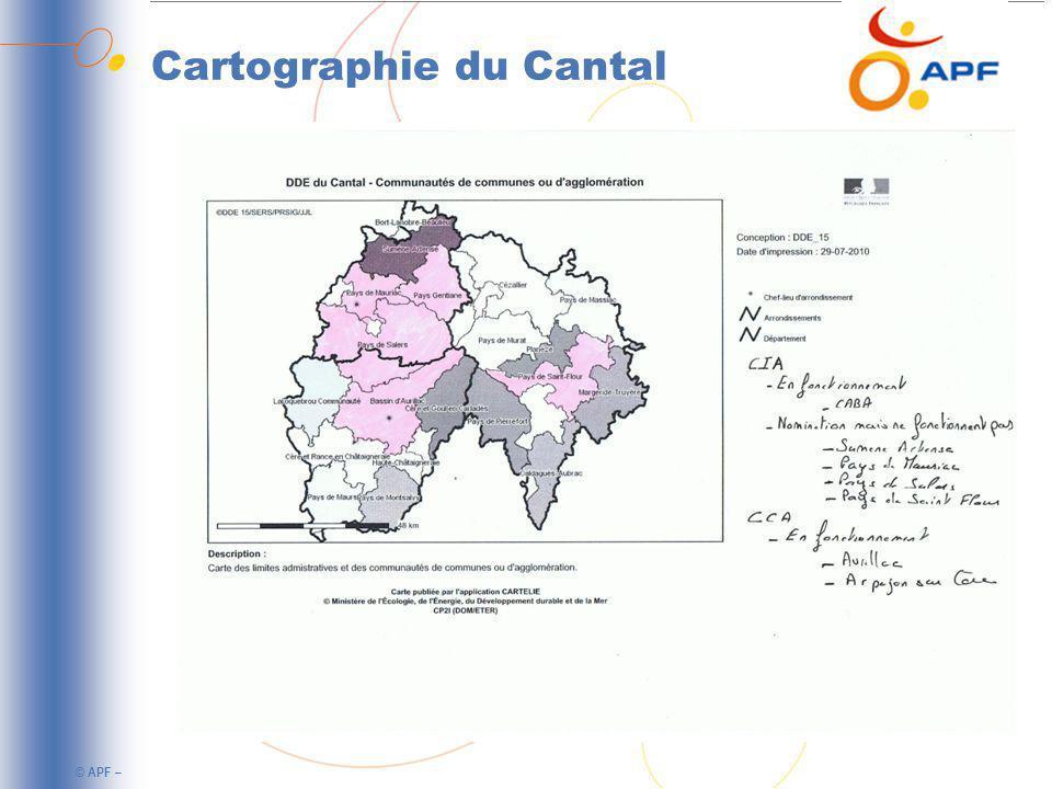 © APF – Cartographie du Cantal