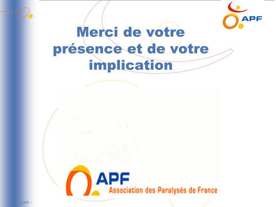 © APF – Merci de votre présence et de votre implication