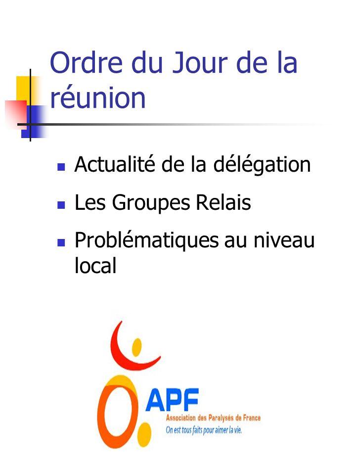Groupe Relais Un Coordinateur pour le Groupe Relais.