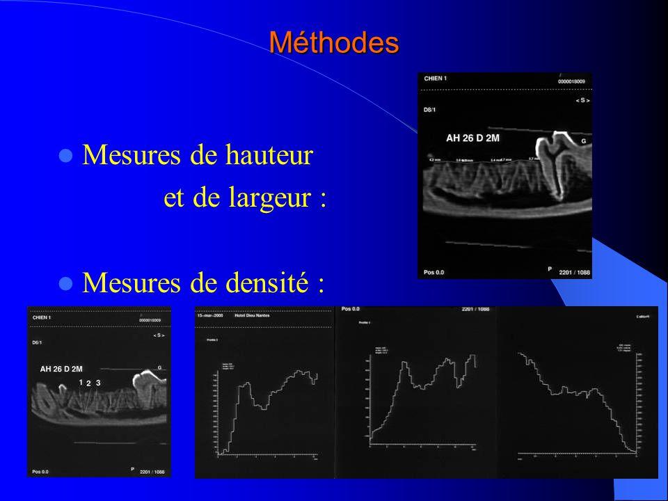 Méthodes Euthanasie à deux mois Prélèvement des pièces anatomiques Micro-radiographies Microscopie électronique à balayage Histologie