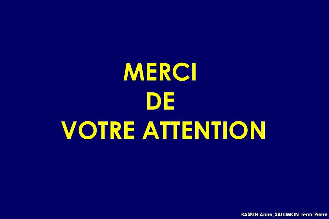 RASKIN Anne, SALOMON Jean-Pierre MERCI DE VOTRE ATTENTION