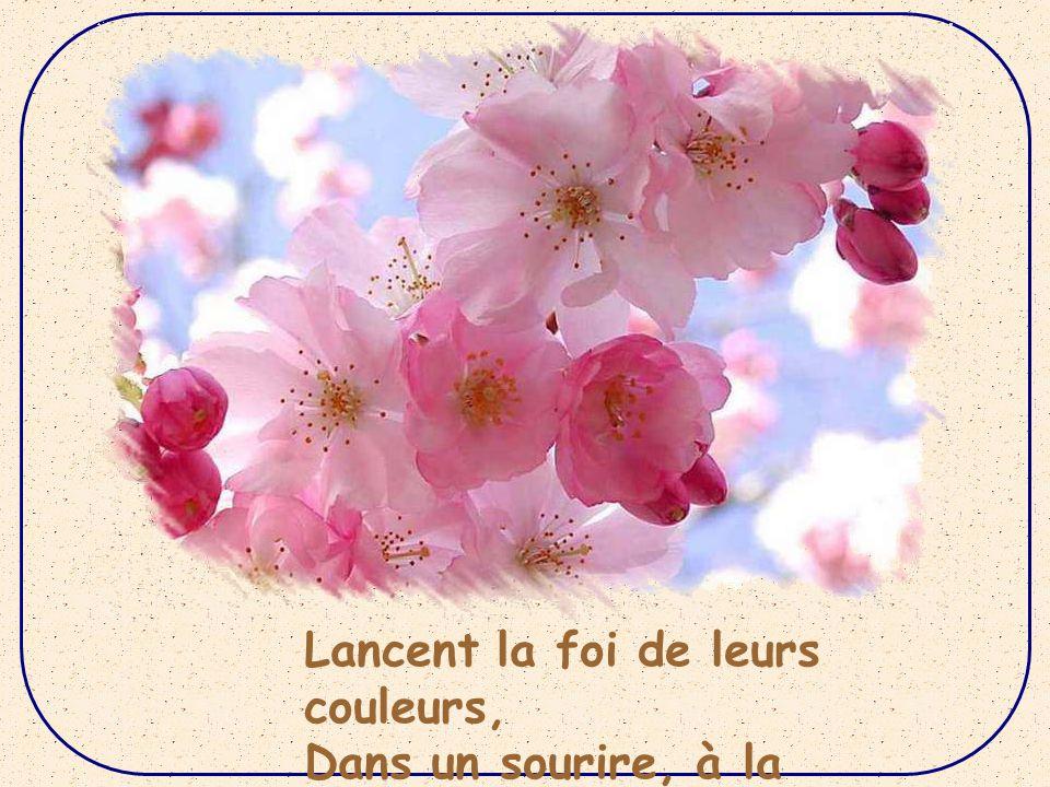 Feuillure tendre aux fraîches fleurs, Entre éclaircie et giboulée