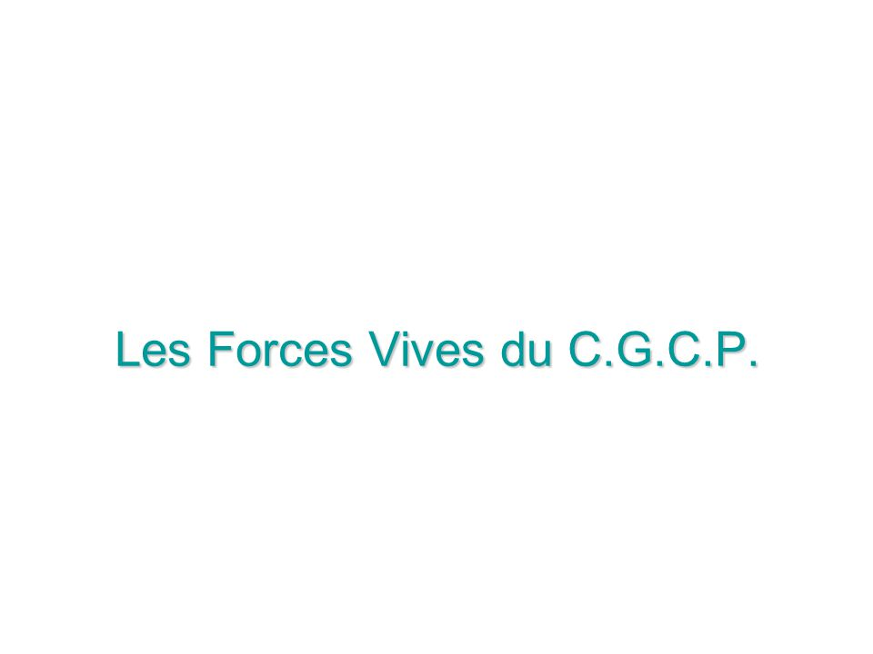 Les Forces Vives du C.G.C.P.
