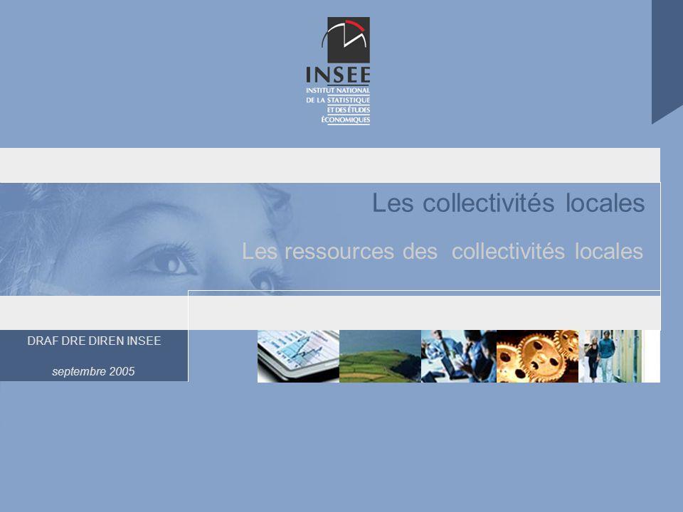DRAF DRE DIREN INSEE septembre 2005 Les collectivités locales Les ressources des collectivités locales