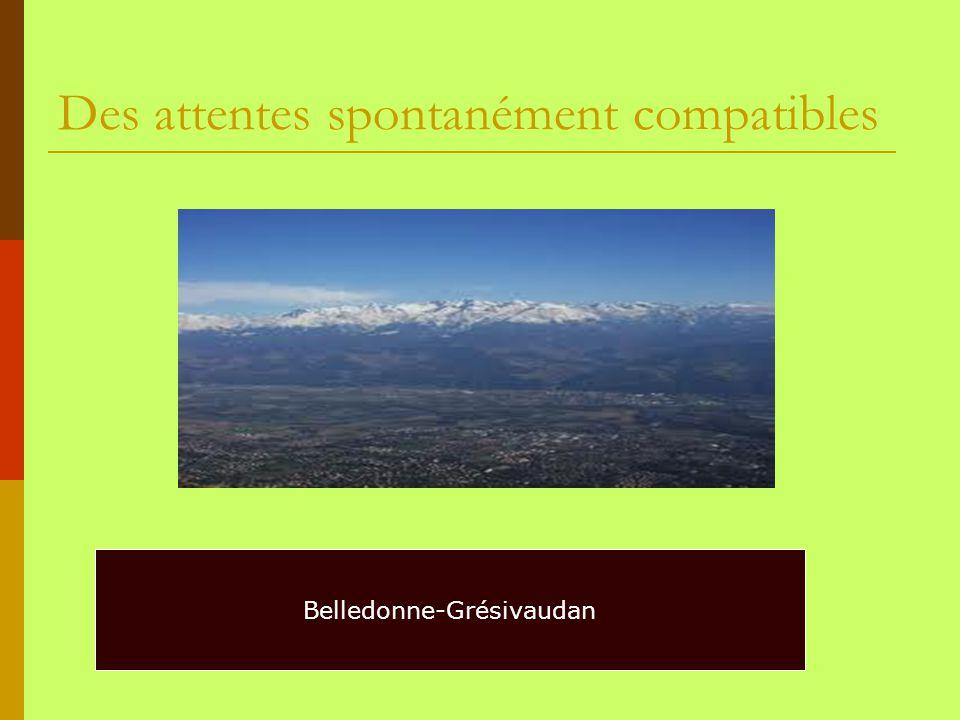 Des attentes spontanément compatibles Belledonne-Grésivaudan