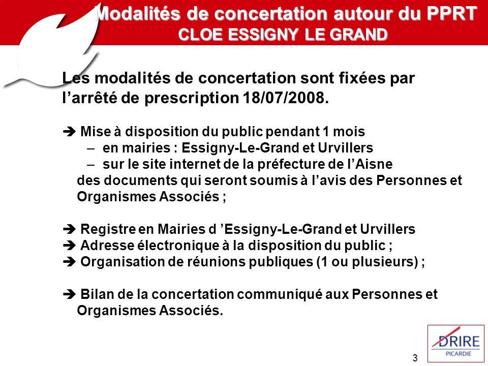 3 Les modalités de concertation sont fixées par larrêté de prescription 18/07/2008.