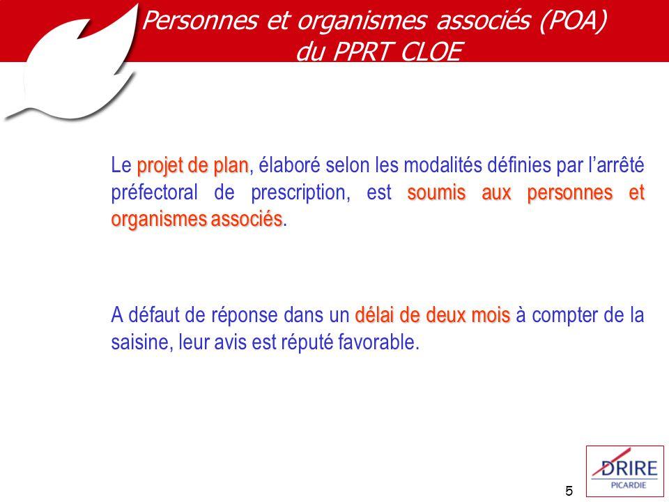 5 projetdeplan soumis aux personnes et organismes associés Le projet de plan, élaboré selon les modalités définies par larrêté préfectoral de prescription, est soumis aux personnes et organismes associés.