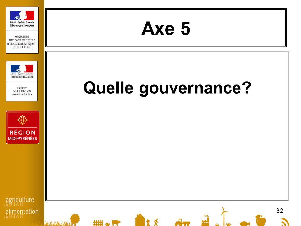 32 Axe 5 Quelle gouvernance?