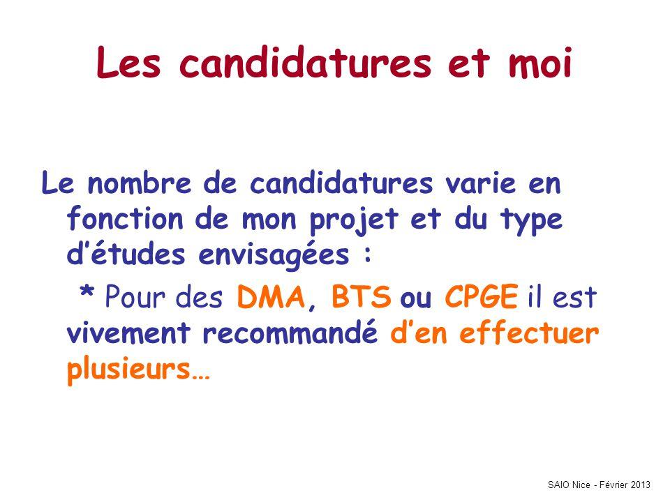 SAIO Nice - Février 2013 Pour Info… en 2012 Sur lAcadémie de NICE chaque candidat de la série STI AA a fait en moyenne sur APB 4 VŒUX !!!