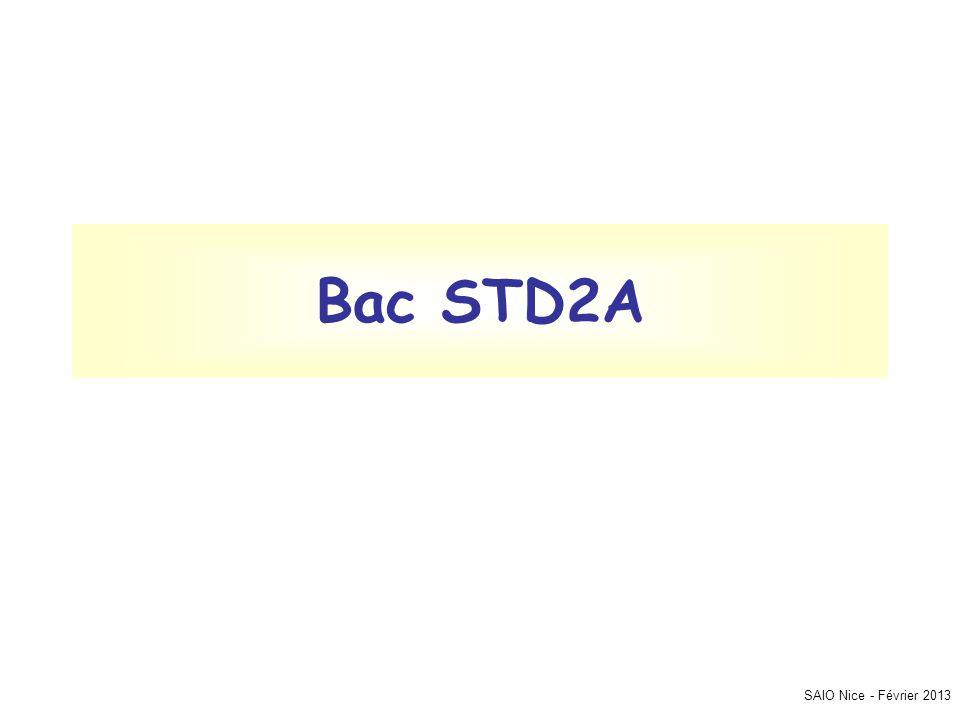 SAIO Nice - Février 2013 Bac STD2A