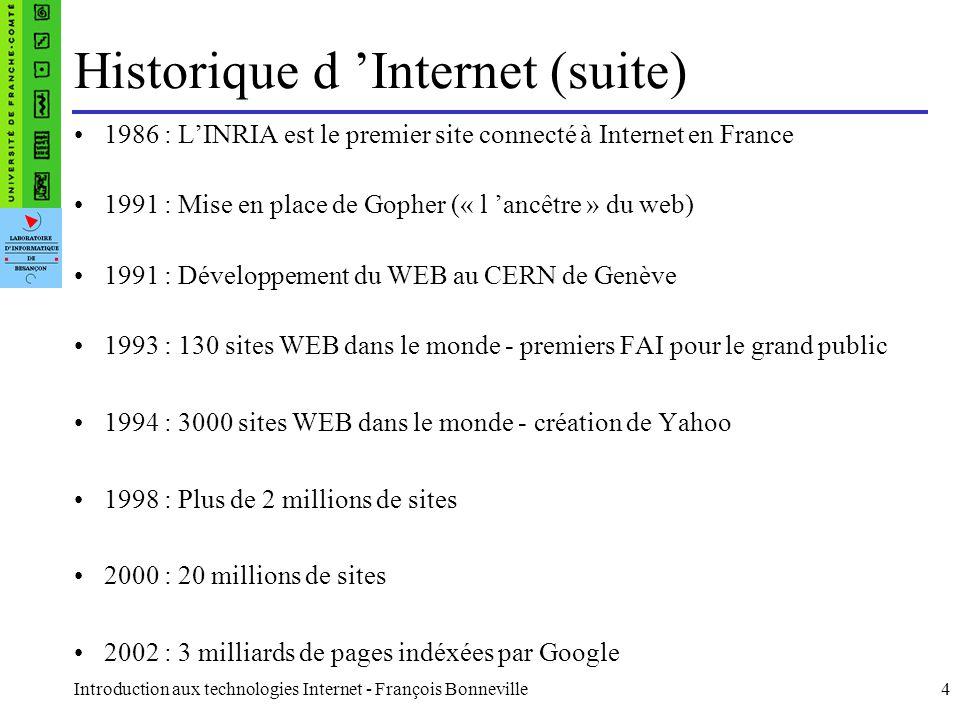 Introduction aux technologies Internet - François Bonneville25 Soumission d un Formulaire Méthode POST