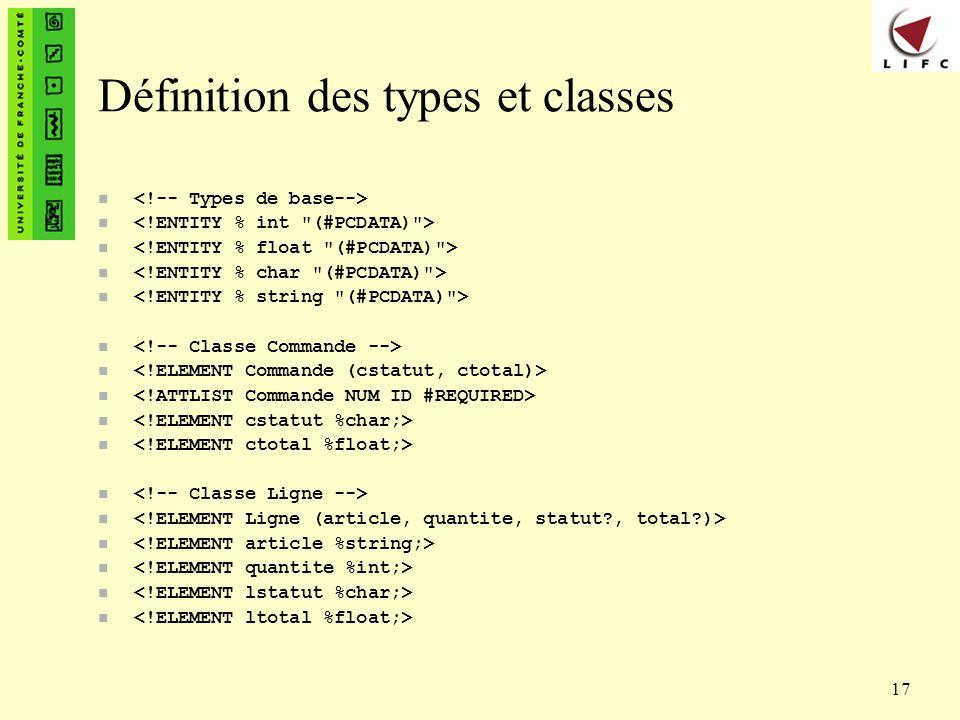17 Définition des types et classes n
