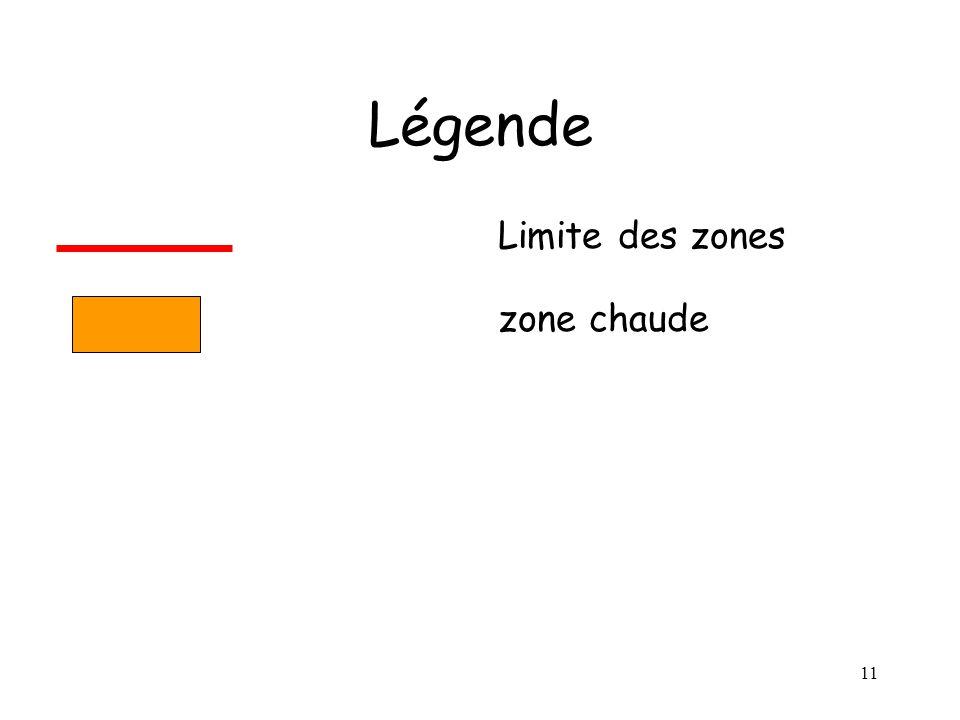 10 Légende Limite des zones