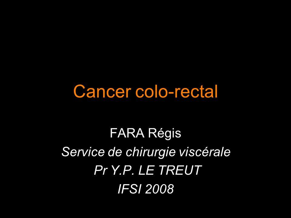 Cancer colo-rectal FARA Régis Service de chirurgie viscérale Pr Y.P. LE TREUT IFSI 2008