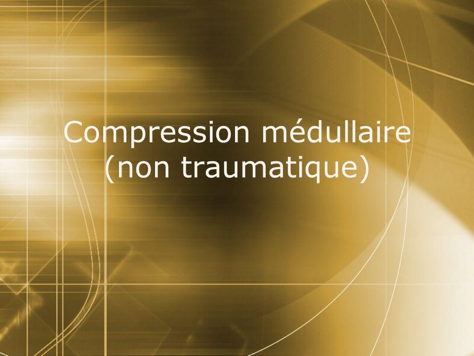 B) Traitement chirurgical Urgent Nécessite généralement une laminectomie sur plusieurs niveaux pour lever la compression Exérèse de la lésion totale ou partielle si possible (anapath) Ostéosynthèse postérieure si instabilité à cause de latteinte osseuse À compléter éventuellement dans un deuxième temps par une voie antéro- latérale B) Traitement chirurgical Urgent Nécessite généralement une laminectomie sur plusieurs niveaux pour lever la compression Exérèse de la lésion totale ou partielle si possible (anapath) Ostéosynthèse postérieure si instabilité à cause de latteinte osseuse À compléter éventuellement dans un deuxième temps par une voie antéro- latérale