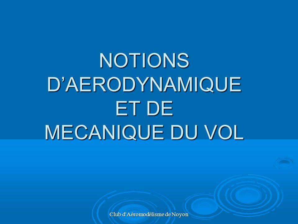Club d'Aéromodélisme de Noyon NOTIONS DAERODYNAMIQUE ET DE MECANIQUE DU VOL