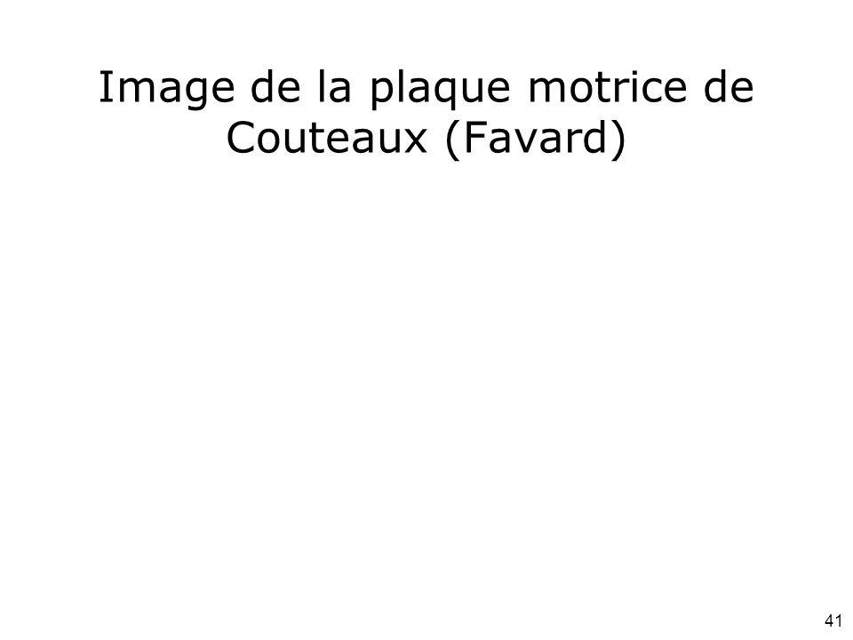 41 Image de la plaque motrice de Couteaux (Favard)