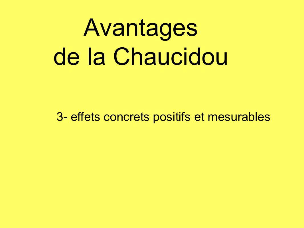Avantages de la Chaucidou 3- effets concrets positifs et mesurables