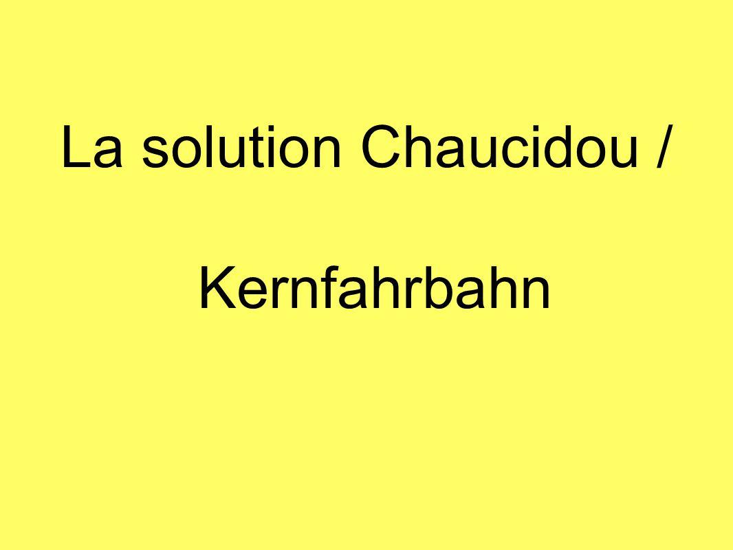 La solution Chaucidou / Kernfahrbahn