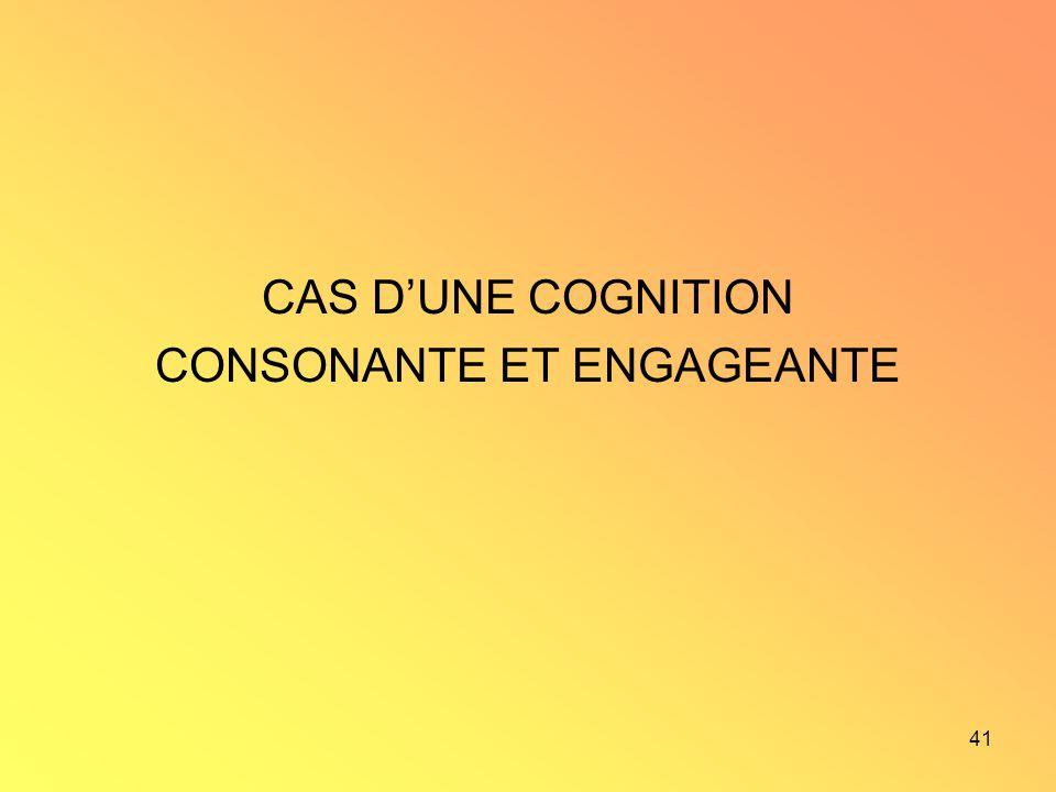 41 CAS DUNE COGNITION CONSONANTE ET ENGAGEANTE