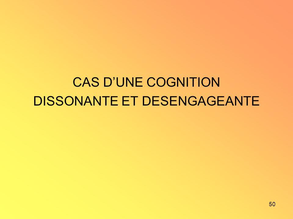 50 CAS DUNE COGNITION DISSONANTE ET DESENGAGEANTE