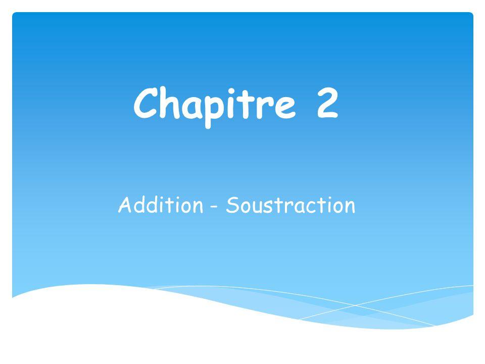 Chapitre 2 Addition - Soustraction