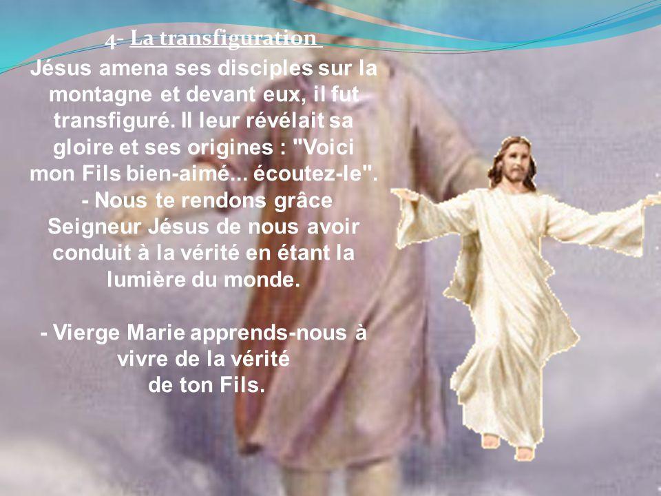 Jésus amena ses disciples sur la montagne et devant eux, il fut transfiguré. Il leur révélait sa gloire et ses origines :