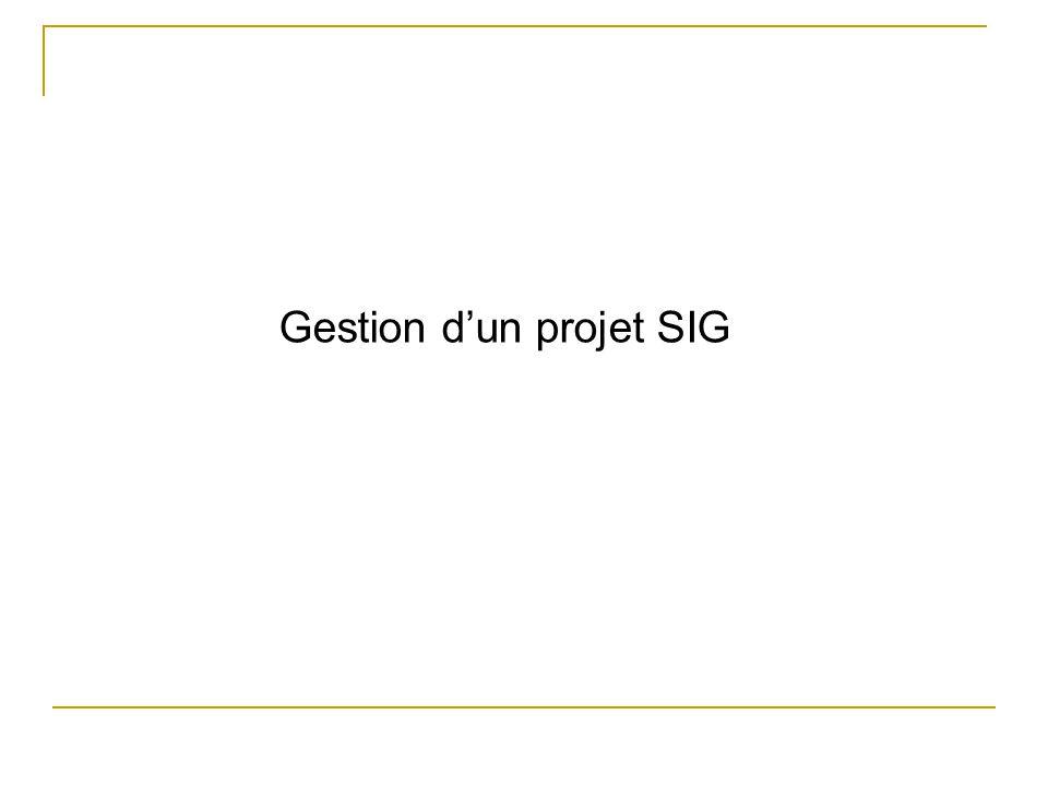 Gestion dun projet SIG