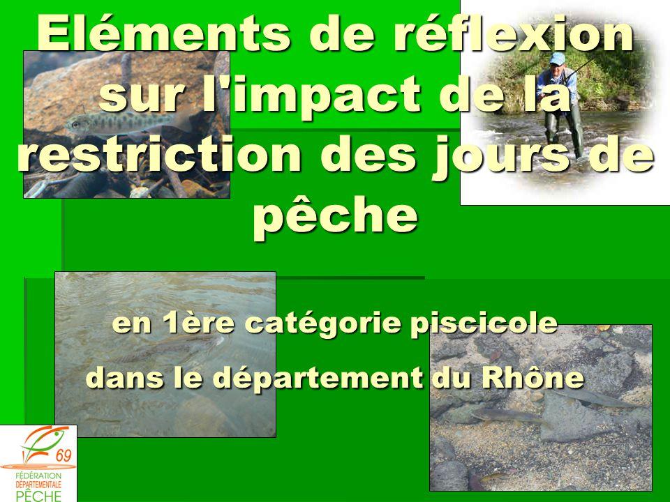 Eléments de réflexion sur l impact de la restriction des jours de pêche en 1ère catégorie piscicole dans le département du Rhône