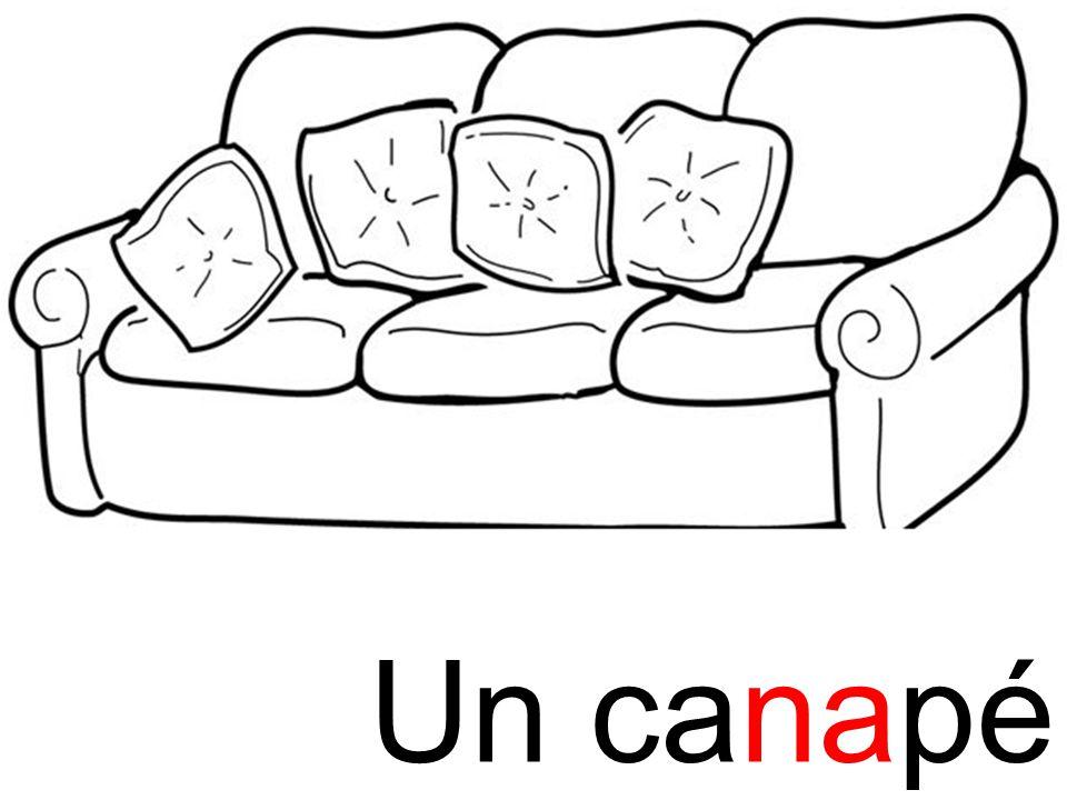 na canapé Un canapé