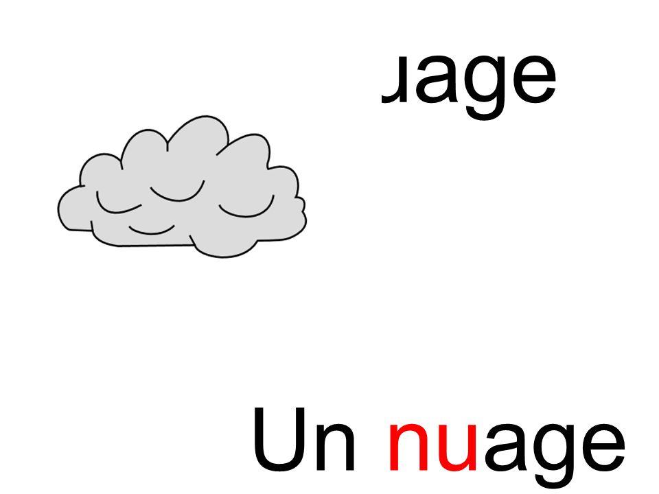 nu nuage Un nuage