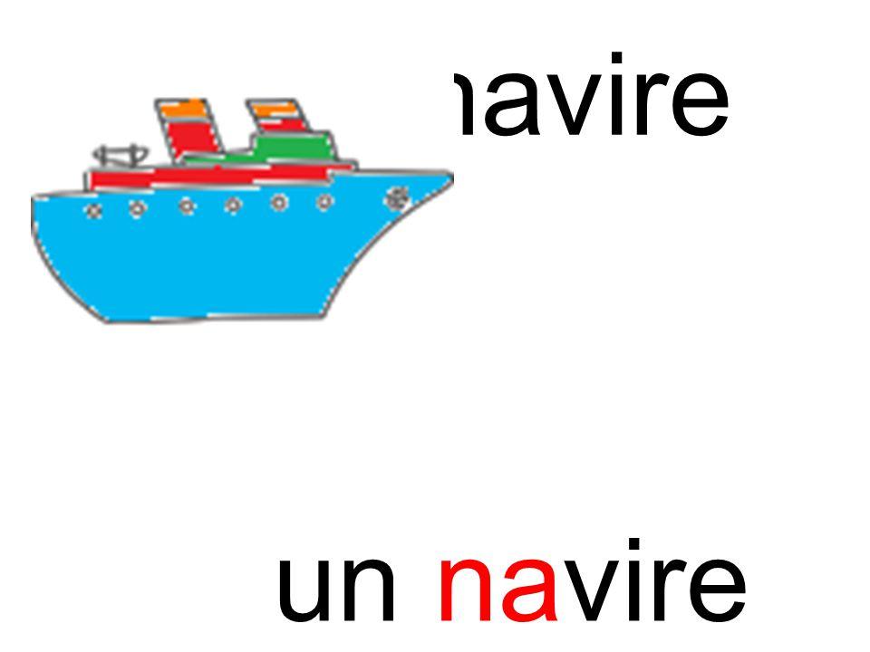 na navire un navire