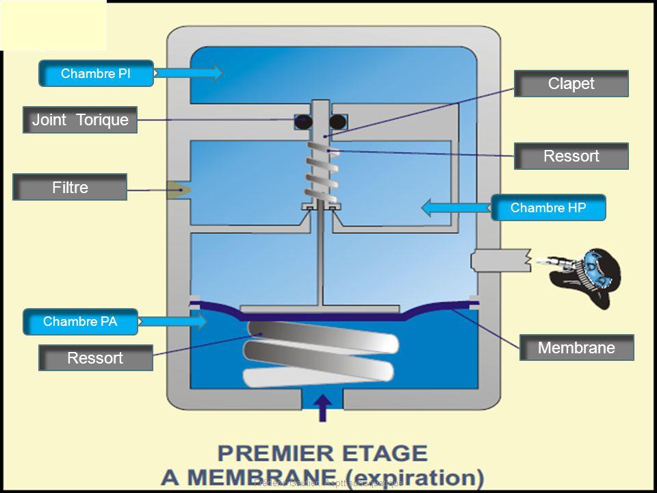 Filtre Joint Torique Piston Ressort Chambre HP Chambre PA Chambre PI Clapet Ressort Membrane Frédéric Gautier. Asptt subaquatique
