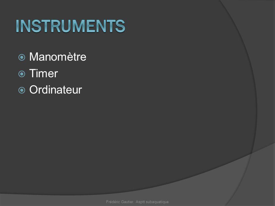Manomètre Timer Ordinateur Frédéric Gautier. Asptt subaquatique