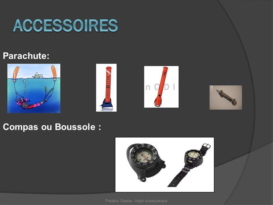 Compas ou Boussole : Parachute: Frédéric Gautier. Asptt subaquatique