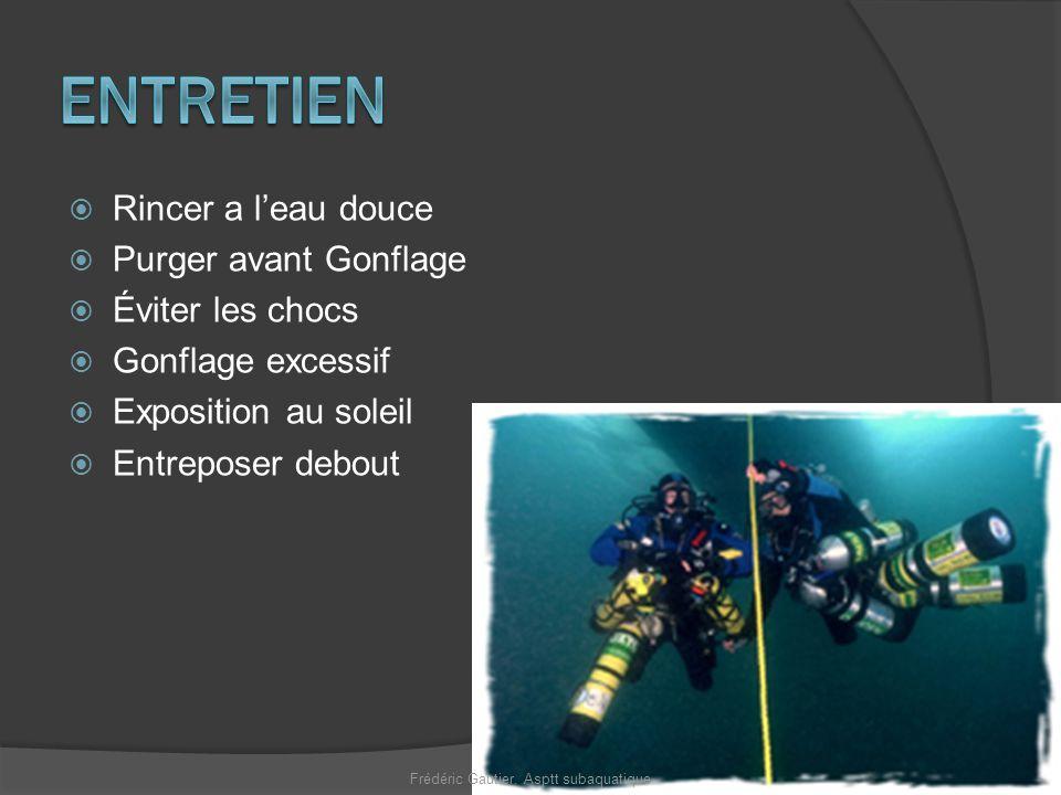 Optimise le temps de plongée Frédéric Gautier. Asptt subaquatique