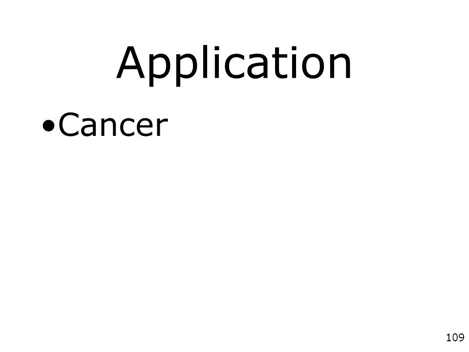 109 Application Cancer