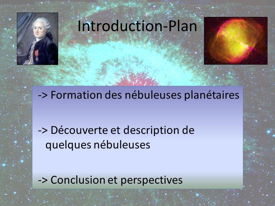 Etoile intermédiaire Formation des nébuleuses planétaires Hydrogène en défaut