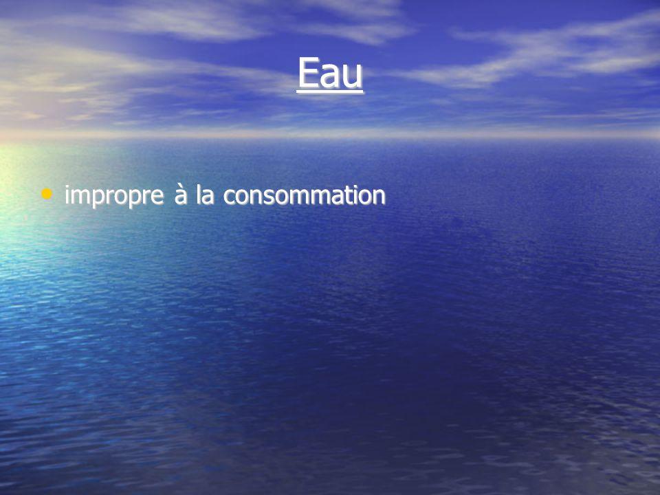 Eau impropre à la consommation impropre à la consommation