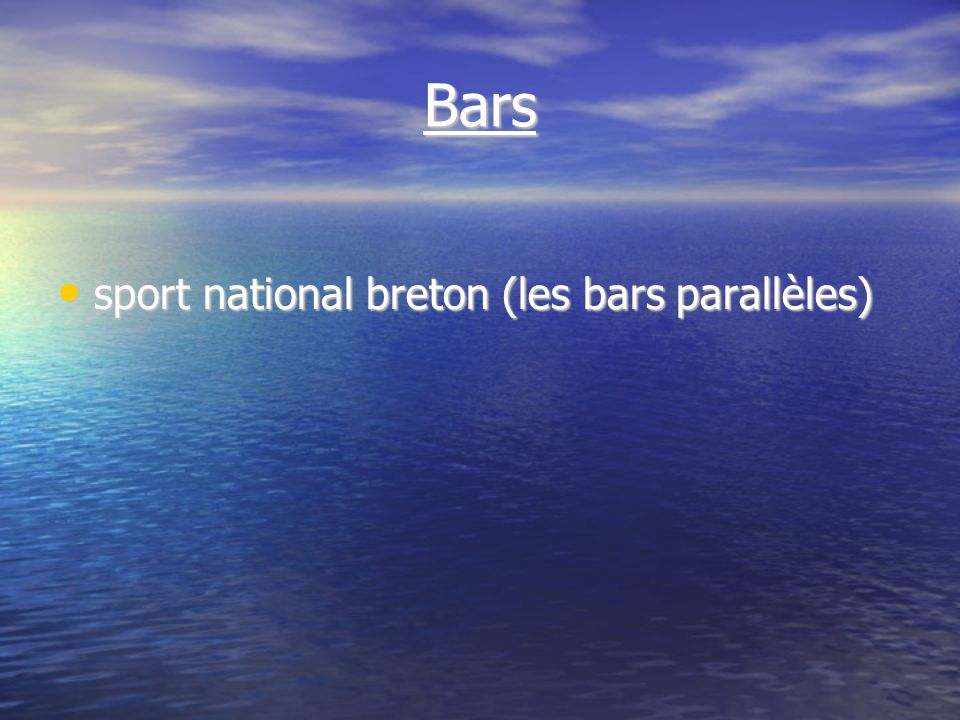 Bars sport national breton (les bars parallèles) sport national breton (les bars parallèles)